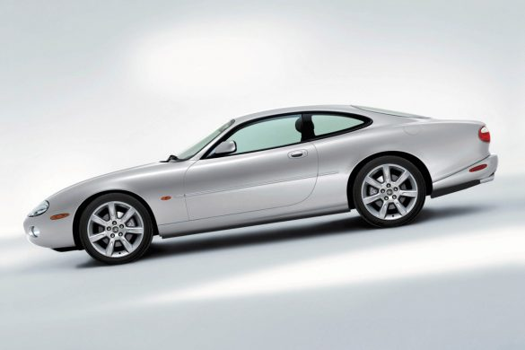 A silver 2002 Jaguar