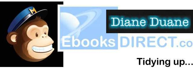 Mailchimp, Ebooks Direct, and DianeDuane.com logos