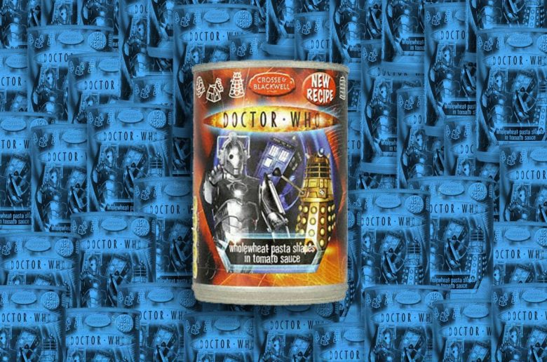 Can of Dr. Who Pasta Shapes