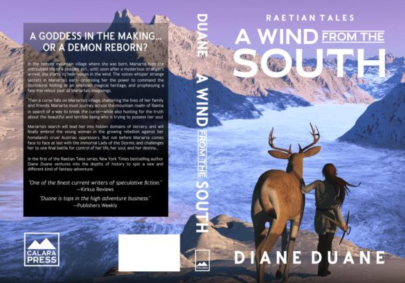 Paperback wraparound cover for A WIND FROM THE SOUTH