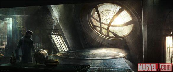 Concept art of the Sanctum Sanctorum