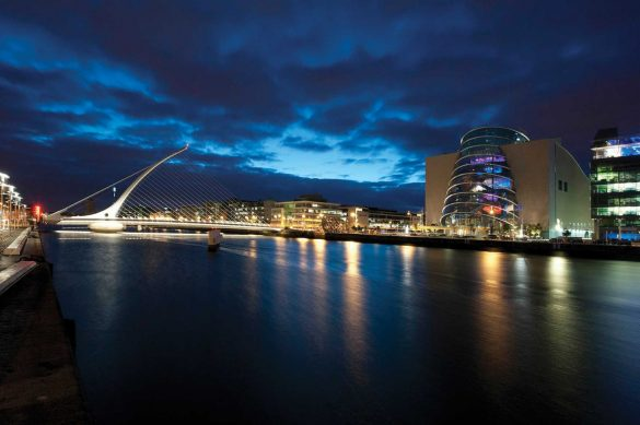 The Dublin Convention Centre and the River Liffey